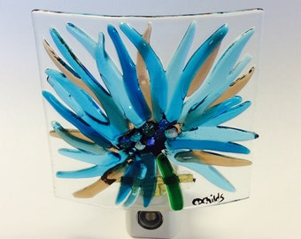 Reserved Listing for C. Locker. Fused Glass Flower Nightlight
