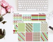 Happy Holidays Merry Christmas Planner Sticker Kit Erin Condren Vertical Stickers