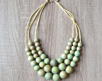 Chunky Necklace - light green