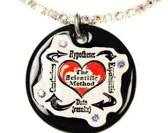 Scientific Method Sparkle Surly Necklace with Swarovski Crystals in Black