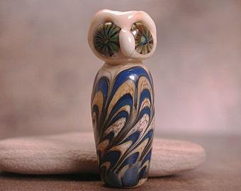 Owl Animal Totem Lampwork Bead Focal Divine Spark Designs SRA