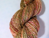 SALE Rose Garden, handspun wool and silk yarn, 40 g/126 yds