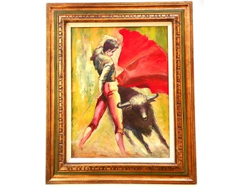 1970 Bullfight Painting