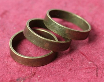 Antique brass band ring, one piece (item ID BR16AB)