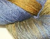 Lonely Skein 'sale' CASCO BAY in Hand Dyed Poet Seat Fingering Weight Superwash Merino and Silk Yarn