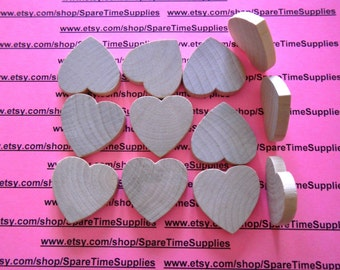 "WH1525WW12  Heart - 1 1/2"" wide x 1 1/2"" tall x 1/4"" thick - unfinished wood - 12 pcs"