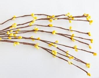 "Flower Crown Supply - 10 Pip Berry ""Branches"" in Yellow - Wedding Crowns, Head Wreaths, Flower Crown Supplies ITEM 0113"