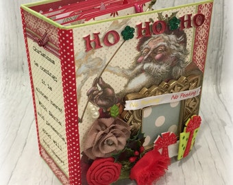 JOLLY SANTA All Occasion Scrapbook Scrapbooking Chipboard Album