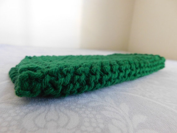 Forest Green Cotton Dishcloth