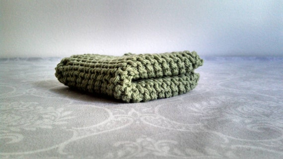 Pea Green Dishcloth