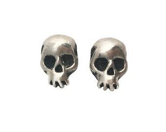 Skull Earrings studs SALE       silver gold posts sterling 14K jewelry