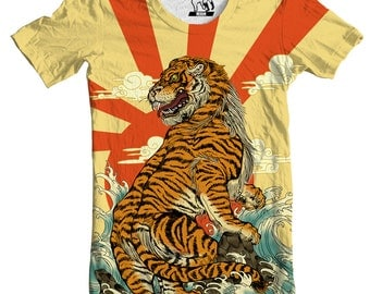 Rising Tiger Men's Graphic Tee T-Shirt, Available in S-3XL