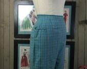 Sale 1950s capris 50s pants clam diggers vintage pants plaid pants vintage capris pedal pushers size medium large