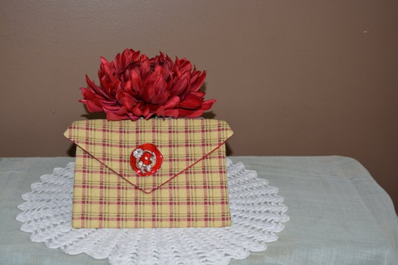 One of a kind country style corded pocket with brooch