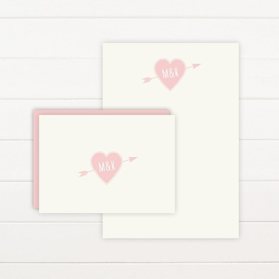 TRUE LOVE Personalized Stationery + Notepad Set, Personalized Notepad and Personalized Stationary