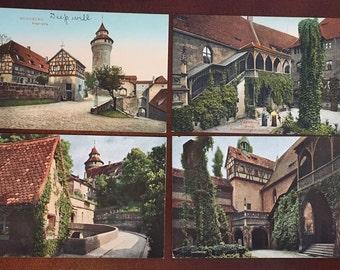 4 Vintage Postcards of Nurnberg Bavaria Germany from 1910