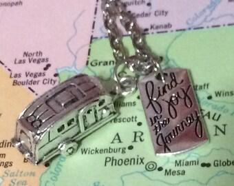 Find Joy in the Journey Vintage Camper Glamper Necklace Free Ship