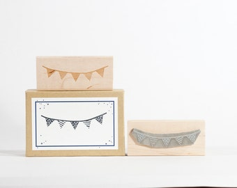 Decorated Bunting Rubber Stamp Pennant Flags