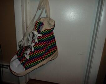 Vintage High Top Rainbow Sneaker Bag Duffle bag Basketball