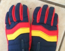 Amazing! Vintage spaulding 1980's winter gloves. Adult womens size small