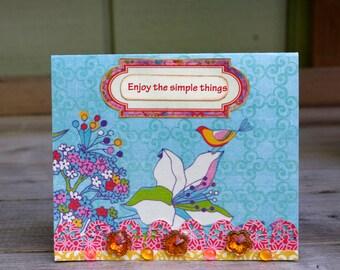 Boho Sweet  Card Handmade Greeting Card