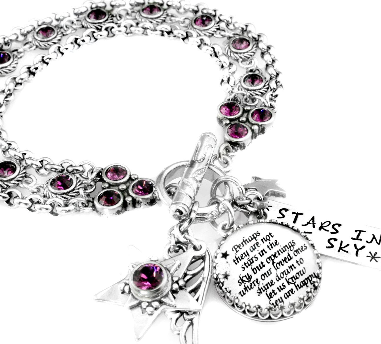 Inspirational Charm Bracelets: Star Charm Bracelet Inspirational Saying Quote Bracelet