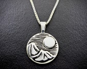 The Moon Over Sleeping Giants (January), Necklace, sterling silver