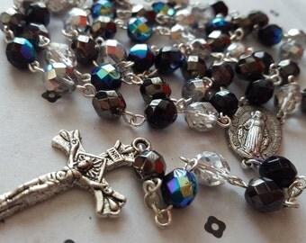 Bleu and Grey Handmade  Classic Catholic Rosary