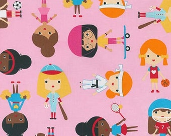 Ann Kelle, Sports Kids, Sporty girls on sweet pink, Yard