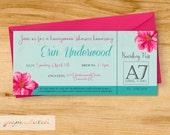 Honeymoon Shower - Bridal Shower - Tropical - Digital File or Printed