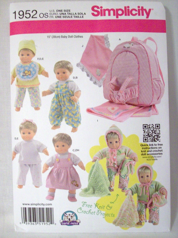 Bitty Baby Clothing Pattern Baby Doll Clothing Pattern