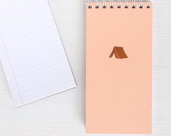 pressed mini reporter notebook - copper TENT
