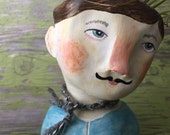 Felix. Clay Head Planter