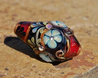 Ashton Jewels - Lydia Workman Muell Focal Bead - DESTASH of koregons artist bead collection