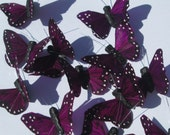 Butterfly Hair Clips small violet Purple feather butterfly hand made hair clip by Ziporgiabella
