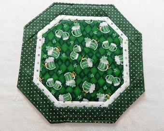 Irish Themed Reversible Quilted Mat, Bar Mat, Irish-lover, Irish decoration, Table cover