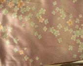 RESERVED FOR MEFY _ Vintage Kimono Silk - Plum Blossoms on Plum - Rinzu