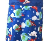 Boys Romper Outfit in Airplane Fabric size 3T