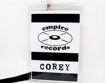 Empire Records Name Badge Prop