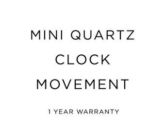 Quartz Clock Movement, clock motor, for replacement or for your project