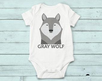 Grey onesie wolf