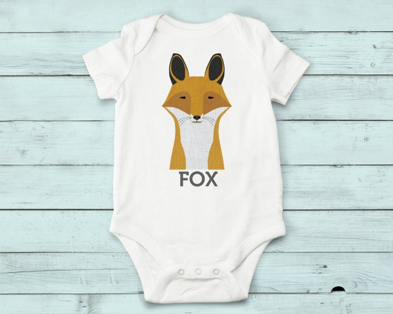 Fox- onesie, baby girl, baby boy, baby gift, baby girl clothes, baby boy clothes, baby onesie, animals, cute onesies, infant bodysuit, fox