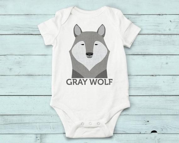 Gray Wolf- onesie, baby girl, baby boy, baby gift, baby girl clothes, baby boy clothes, baby onesie, animals, cute onesies, infant bodysuit
