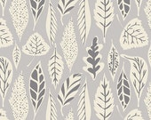 Leaflet Dawn - Hello Bear - Art Gallery Fabrics - HBR-5435 - Bonnie Christine - Leaves Fall Gray