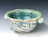 Ceramic Jewelry Bowl; Multi-Colored Earring Bowl; Pottery Ring Holder; Earring Organizer; Bracelet Catcher