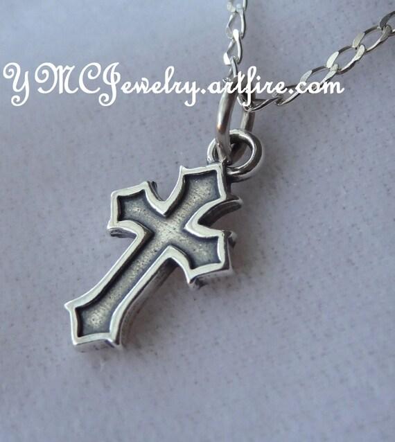 sterling silver cross boy necklace boys necklace