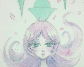 Revolutionary Girl Utena mini watercolor painting