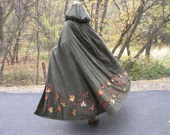 Fall Leaves Fleece Lined Cloak