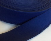 FOR JULIE - 1 2/3 YDS - Navy blue ruffle edge elastic, 1 7/8 inches wide