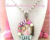 SALE Let Them Eat Cake Sweet Marie Antoinette Cameo Necklace